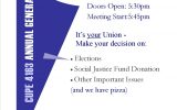 CUPE 4163 Annual General Meeting March 20 MAC D 110